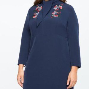 Beautiful Navy Dress with floral detail